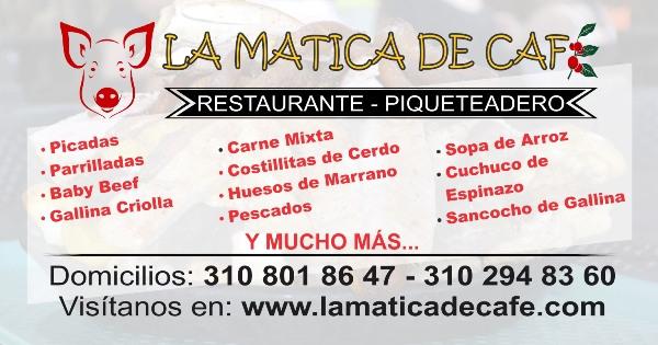 Banner Menú La Matica de Café
